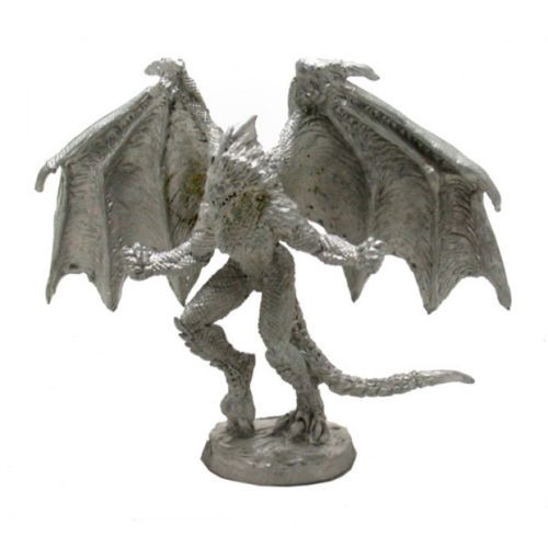 Biped Female Battle Dragon II sculpted by Clint Staples.  Model sculpted in 28 mm scale and supplied unpainted and unassembled in two parts.  Model is supplied unpainted and cast in leadless pewter.