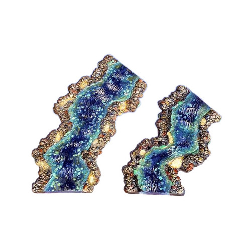 "ACRV003 2"" River Curves (2 pieces - 5"" long and 7"" long)"