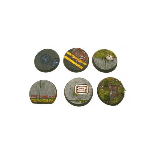 TMB001 25mm Round Urban Bases (6pcs)