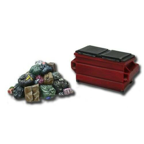 ACCS002 Garbage Pile & Dumpster (2 pieces)