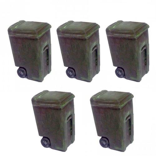 ACCS025 Plastic Garbage Cans (5pcs)