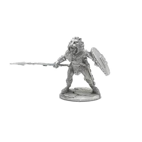 LL03010C Barbarian w/ Spear & Lion Skin Cloak
