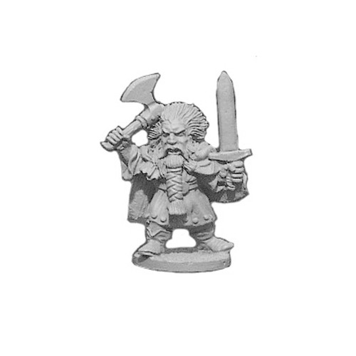 OADW102 Chaos Dwarf Champion w/ 2 hand Weapons 28mm