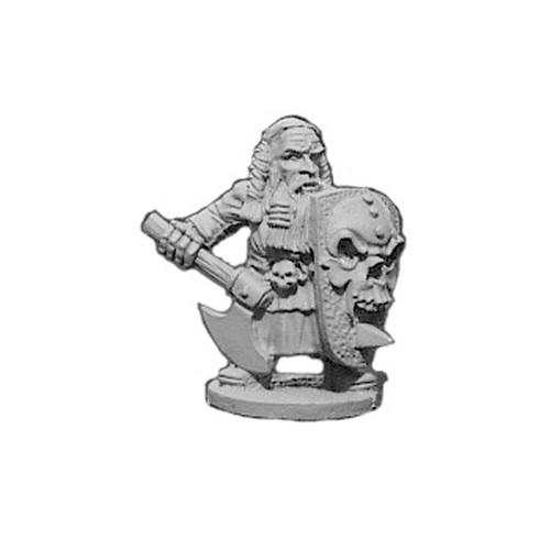 OADW202 Chaos Dwarf w/ Axe & Skull Shield