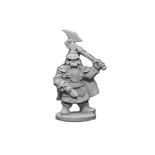 OADW203 Chaos Dwarf w/ Axe, Punching Dagger & Skull Helm 28mm