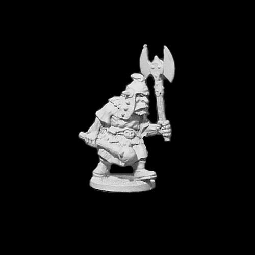 OADW204 Chaos Dwarf w/ Axe & Mace 28mm