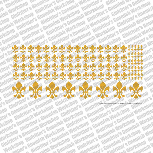 Fleur-de-lis - Gold Waterslide Transfer Decal