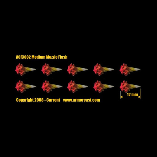 ACFX002 Medium Muzzle Flash 10pcs