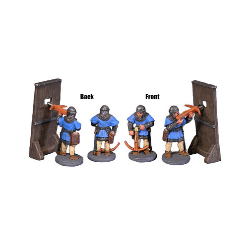 ACMS002 Palisade w/ Two Crossbowmen (3pcs)
