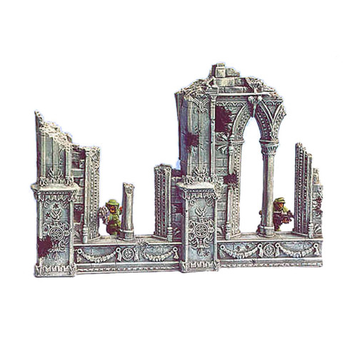 ACC003 Ruined Cathedral Straight Wall (2 pcs)