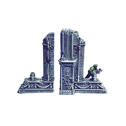 ACC005 Ruined Cathedral Straight End Wall (2 pcs)