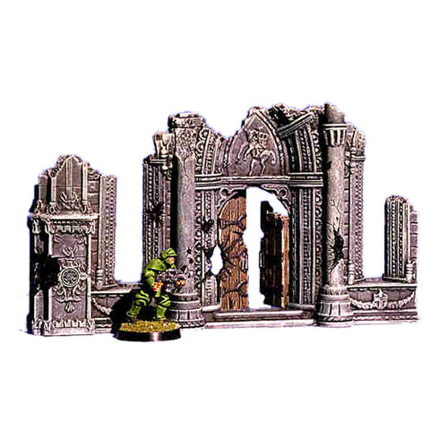 ACC008 Ruined Cathedral Front Door (3 pcs)