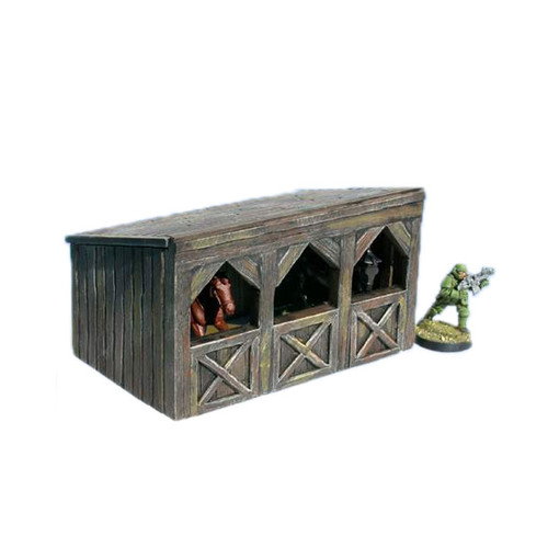 """ACMV1253 3"""" x 4.5"""" Wooden Stable"""