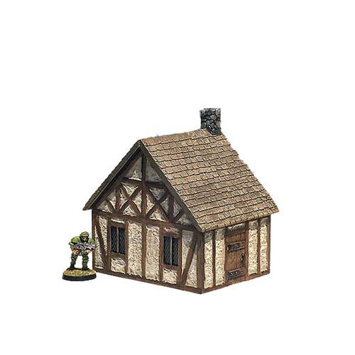 """ACMV1218 4""""x 3"""" Medieval Cottage (7 pcs)"""