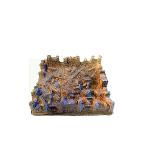 """1228 Ruined 3"""" x 3"""" Cottage Rubble and Floor"""