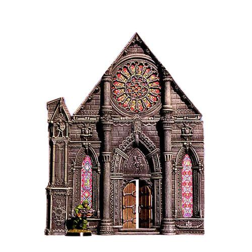 ACC012 Cathedral Front Door w/ Door and Rose Window