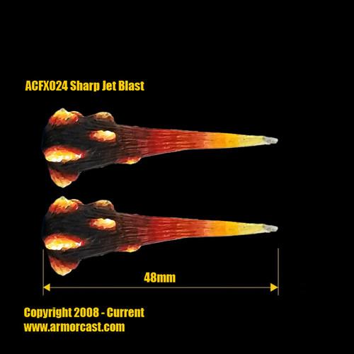 ACFX024 Sharp Jet Blast (2pcs)