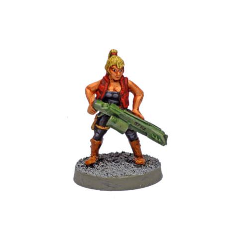 "SC0106 Human Salvage Crew Member ""Jewel"" w/ Railgun"