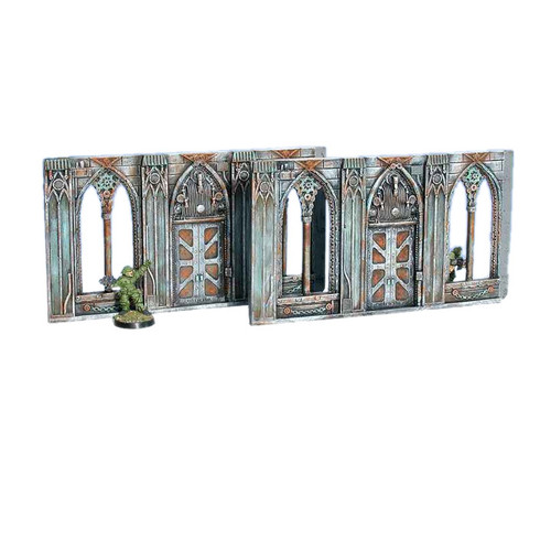 ACGT009 Gothic Wall Extensions w/ Doors (2pcs)