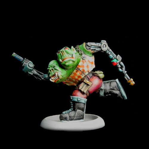 LLSF052 2 Headed Mutant Orc w/ Bionic Arms