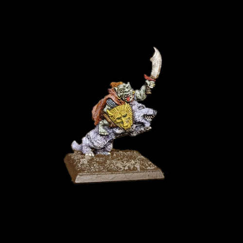 LL00117 Goblin Wolf Rider - sample painted