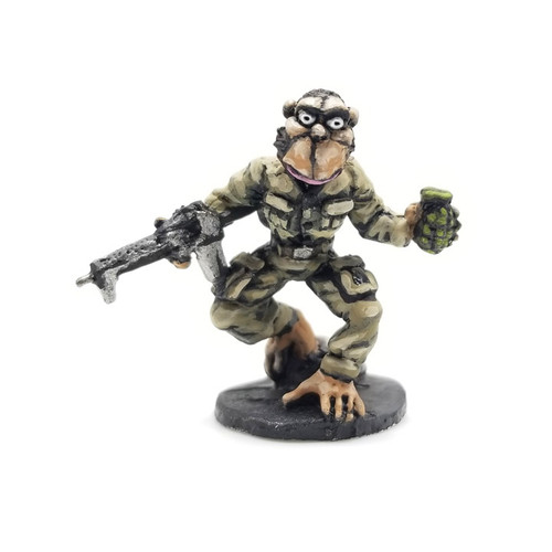 LLSF400 Chimp Commando - painted sample by Ginfritter - supplied unpainted