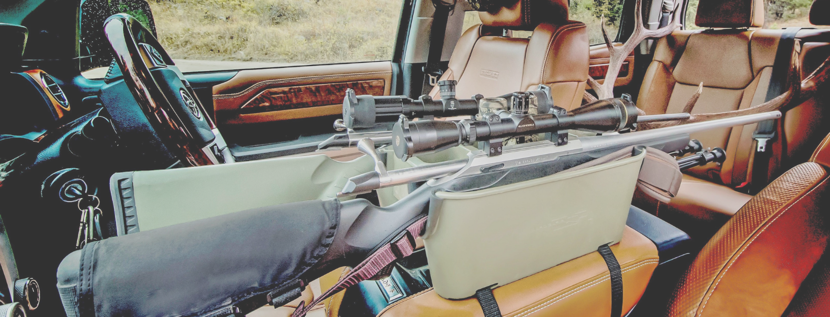 Rifle Caddy Center Console Firearms Holders For Vehicles Hunting Accessories