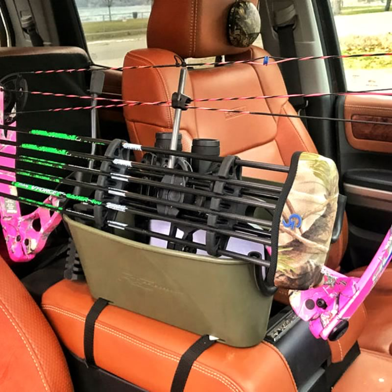 Other then rifles and other firearms, Rifle Caddies are also great for storing bows and arrows.
