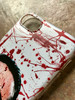 American Psycho KiSS Phone Case - Blood Splatter Christian Bale - Have a Killer Day - Horror Funny Halloween - present