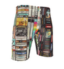 Cassettes, VHS, Atari KiSS Cut & Sew Shorts or Joggers - Retro - Video Tapes, 80s 90s - Handmade Unique - Gift Idea