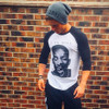 Will Smith KiSS Baseball T-Shirt - Half face - I Am Legend - Actor Fresh Prince Movie  Aladdin Hitch