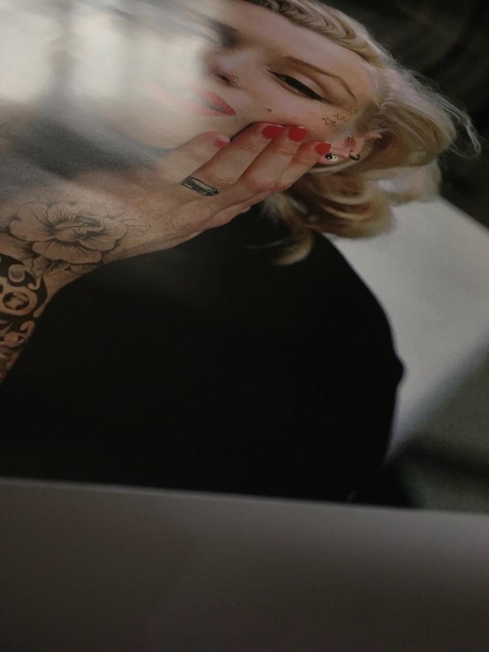 Monroe Inked Wall Art Tattoo Sleeve Marilyn Tattooed KiSS Canvas or Poster