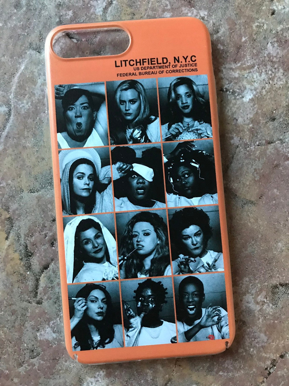 quality design 6922a 9c45c OITNB Inmates KiSS Phone Case - Orange is the New Black - Piper & Alex,  prison Litchfield - Christmas gift, stocking filler, Poussey
