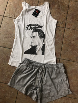 Leonardo DiCaprio Dreaming Women's KiSS Set - Gift - Choose Shorts or Trousers - Christmas or Birthday Present - Leo Fans - Valentines