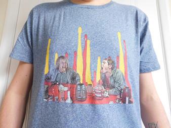 Dumb & Dumber KiSS T-Shirt - Lloyd Christmas - Jim Carrey Jeff Daniels - Ketchup Mustard - Funny Gift