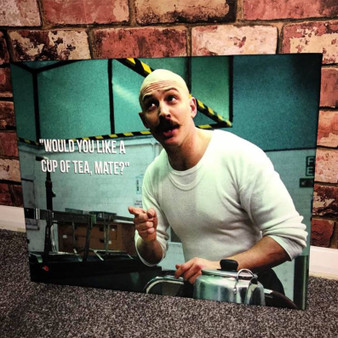 Charles Bronson Tea KiSS Canvas or Poster - Tom Hardy - Prison, Movie Scene - Wall Art, Home Decor - Unique Gift Idea Valentines