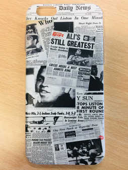 Muhammad Newspaper KiSS Phone Case - Ali Casisus Clay Knockout - Sports Fans - Gift Idea, Dad, Father's Day, Uncle, Brother Present Boxing