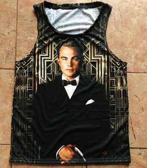 Great Gatsby 1925 KiSS Basketball Vest - Leonardo Dicaprio, Jay, Old Sport - 1920s Art Deco - movie fans - gifts for him & her