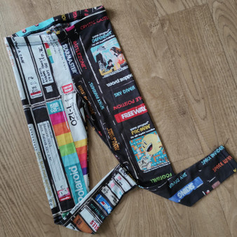 Cassettes, VHS, Atari KiSS Kids Leggings - Retro - Video Tapes, 80s 90s - Handmade Unique - Gift Idea, Music - Toddler Style - Boys Girls