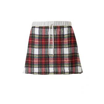 Tartan KiSS Mini Skirt - Rachel Green inspired - Jennifer Aniston Friends - 90s - Handmade Skirt - gift for her