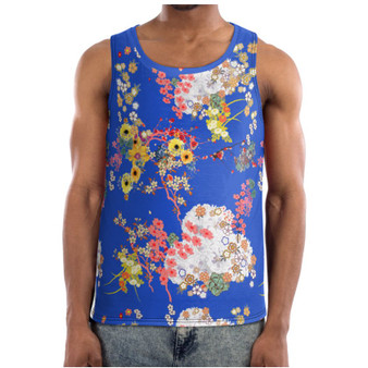 Romeo KiSS Basketball Vest - Japanese Flowers Floral - Leonardo DiCaprio Juliet Movie - 90s Gift for Her or Him