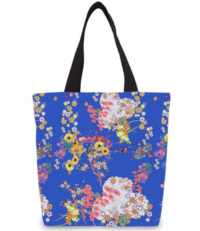 Romeo KiSS Tote Bag - Japanese Flowers Floral - Leonardo DiCaprio Juliet Movie - 90s Gift for Her