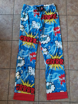 Villanelle Inspired Killing Eve KiSS Pyjama Bottoms - Jersey - Shh TV - Comic Book Pop Art Superhero - Gift Idea Present - Jodie Comer Unisex
