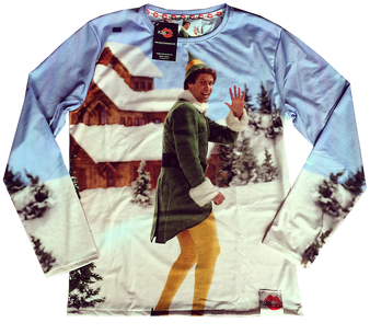 Elf KiSS Cut & Sew Jumper - Christmas - Xmas Sweatshirt - Buddy the Elf - Will Ferrell