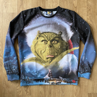 Grinch KiSS Cut & Sew Jumper - Christmas - Xmas Sweatshirt - Whoville - Jim Carrey