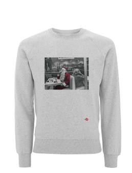 Santa Coffee Break KiSS Sweatshirt - Happy Christmas - Xmas - St Nick - Claus Jumper