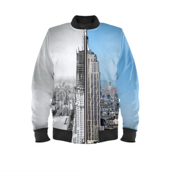 Empire State Then & Now KiSS Bomber Jacket - New York City Manhattan - Construction NYC