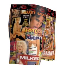 Black Sugar XXX Girls KiSS Cut & Sew Boxer Briefs - FightClub Inspired - Porn, retro Tyler Durden - 日本playboy girlsxxx - 70s