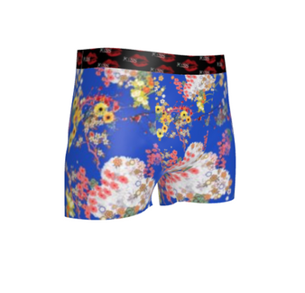 Romeo KiSS Cut & Sew Boxer Briefs - Japanese Flowers Floral - Leonardo DiCaprio inspired Juliet