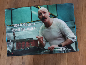 Charles Bronson Tea KiSS Tea Towel - Cuppa - Tom Hardy - Movie Inspired - Prison - Gangster Kitchen Cotton Linen